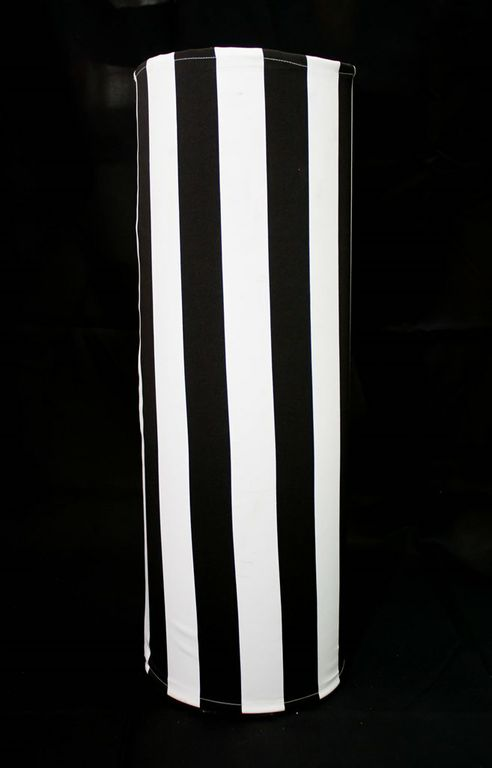 Clear Cylindrical Vase With Black & White Stretch Cover (Extra Large)-0