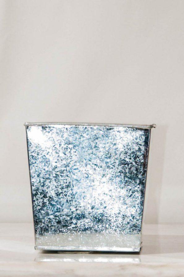 Silver Square Vase (Medium)-0