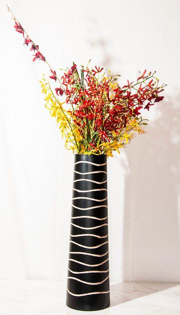 Dark Brown Wooden Vase (Large)-0