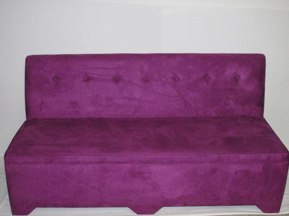 3 Seater  Purple Armless