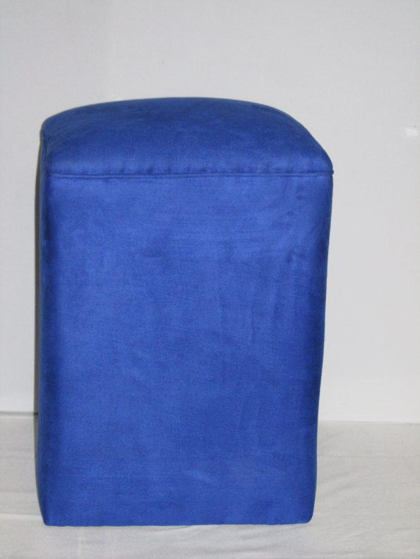 """Royal Blue  Square Ottoman (22""""x22')H17"""""""