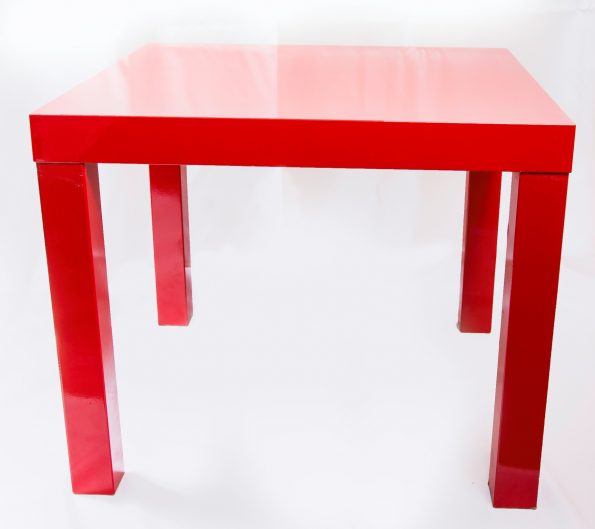 Lack Red Side Table-0