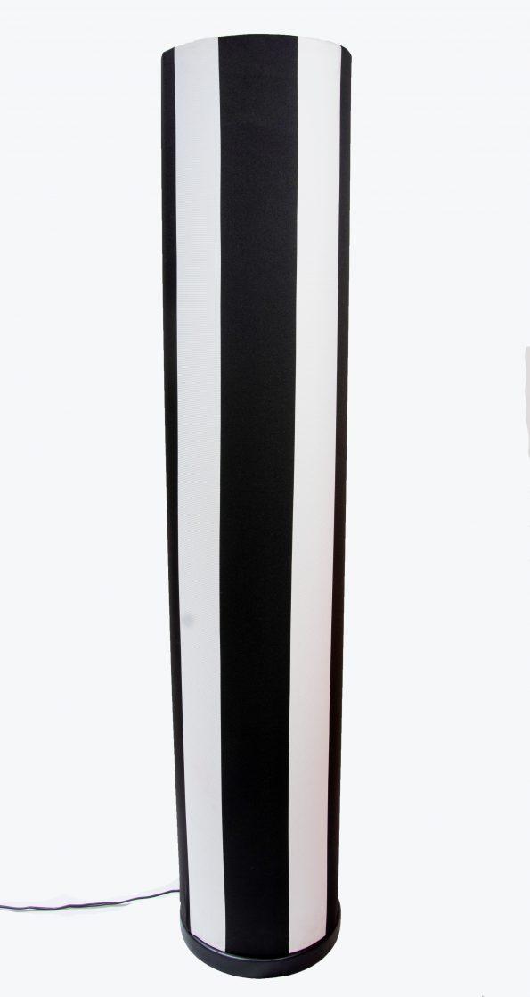 Black & White stripe standing lamp-0