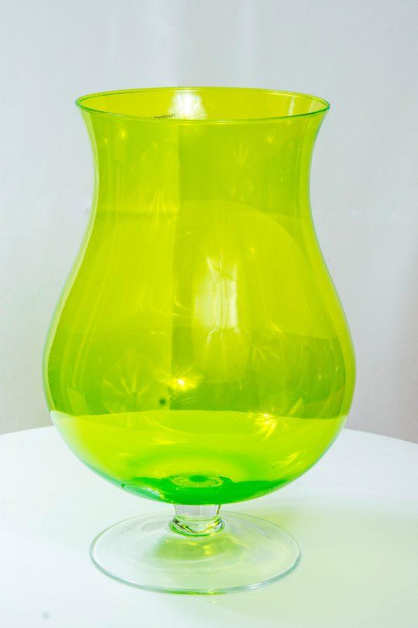 Neon Green Hurricane Vase-0