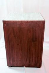 Mosaic Top Cube Side Table Mahogany