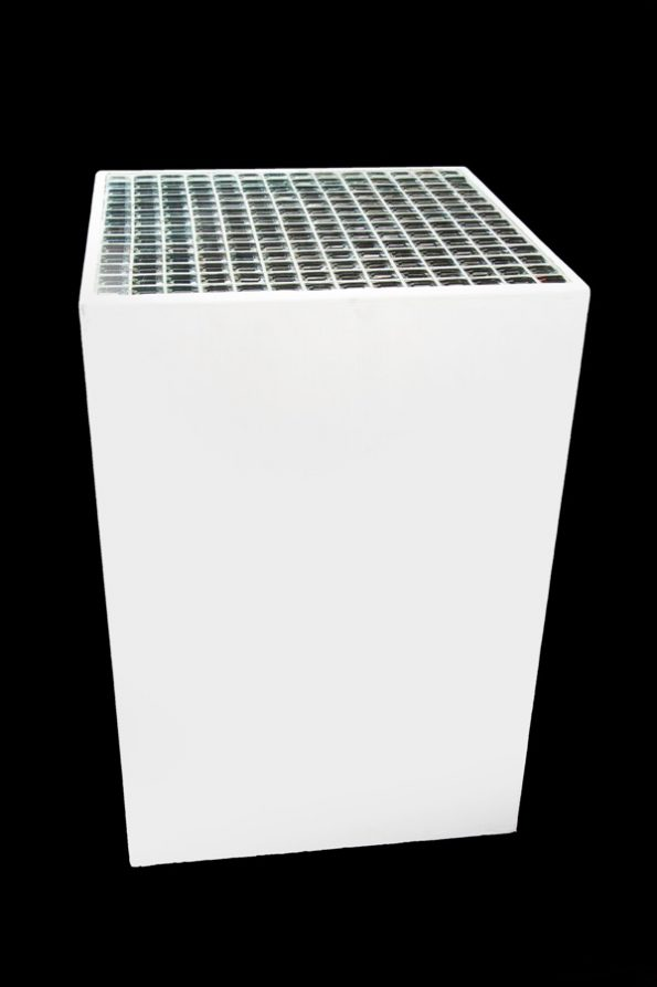 Mosaic Top Cube Side Table White-0