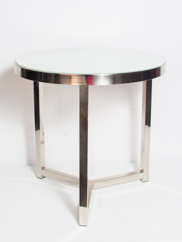 White / Chrome Side Tables