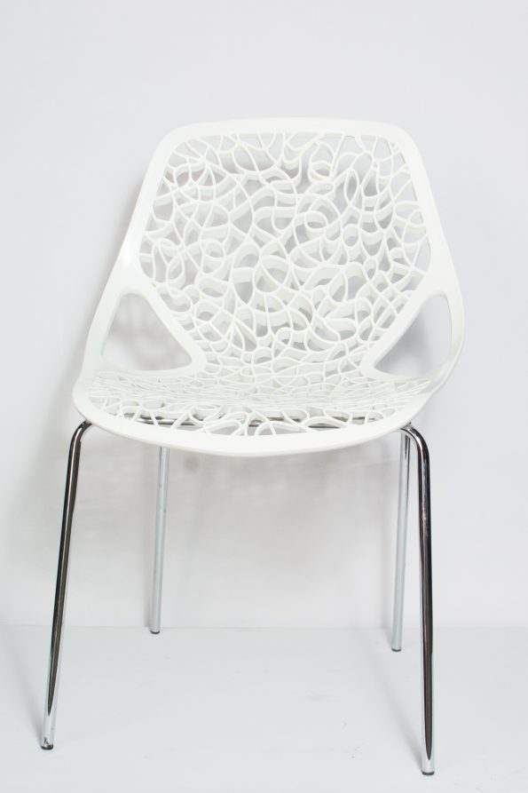 Ivory Armless Chair-0