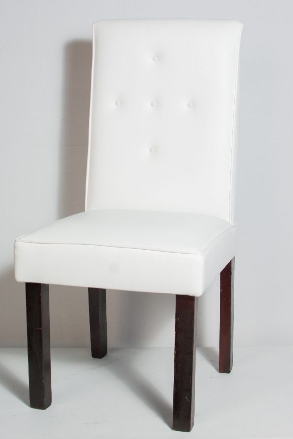 High Back Upholstery White Chair-0