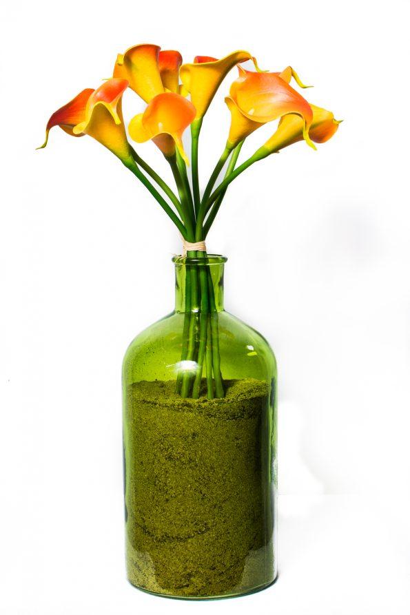 Orange & Yellow Calla Lillies Floral Arrangement-0