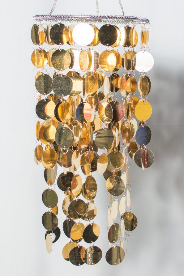 Shimmery Gold Chandelier-0