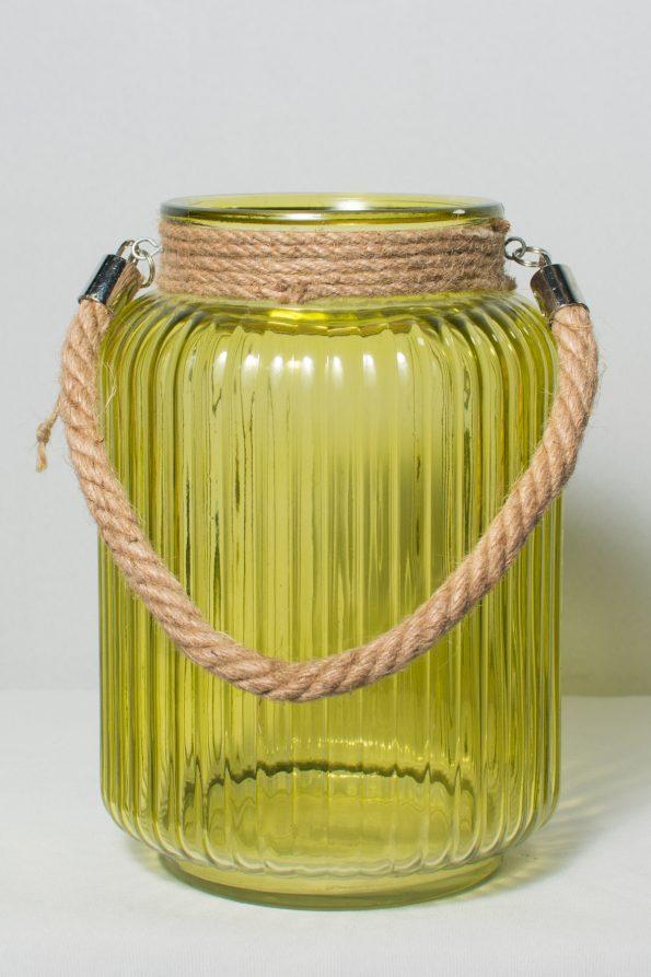 Royal Blue Candle Lantern / Rope Handle