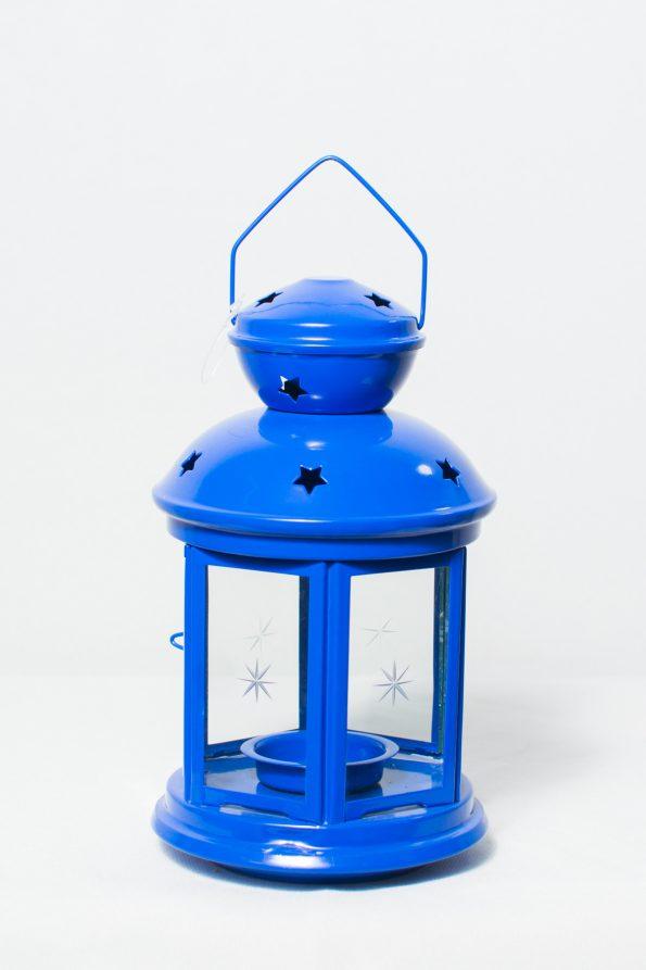 Royal Blue Star Lantern-0