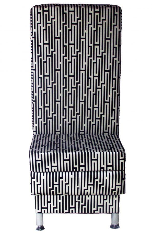 Paradise Black & Ivory High Back Chair