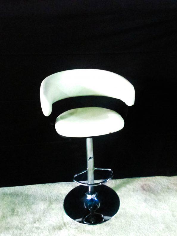 Hydraulic Glasgo White Stools-0