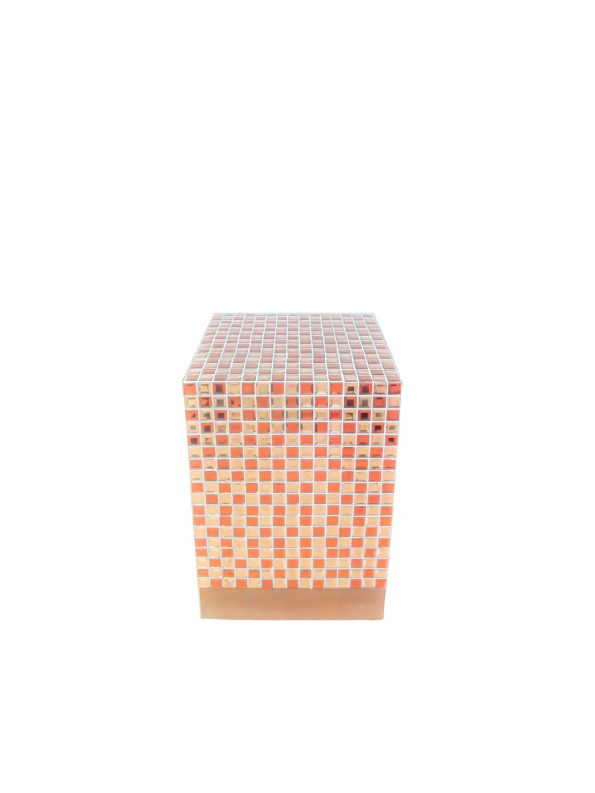 Bronze Mosaic Cube Side Table