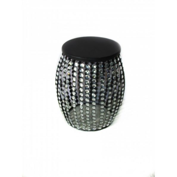 Crystal Beaded Round Side Table