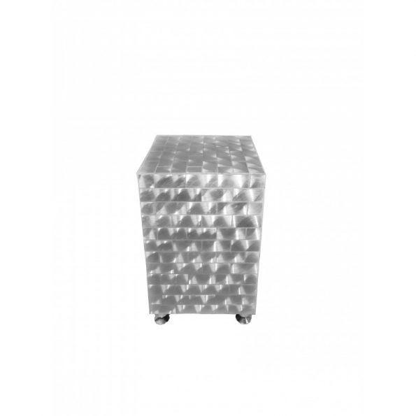Silver Cube Side Table