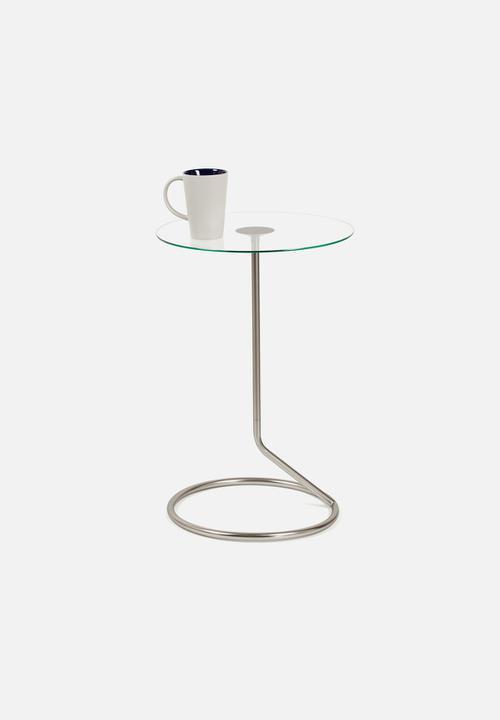 Loop Glass Top Side Table