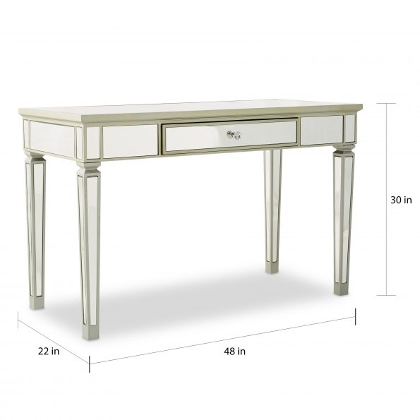 Glam Mirrored Entrance Table