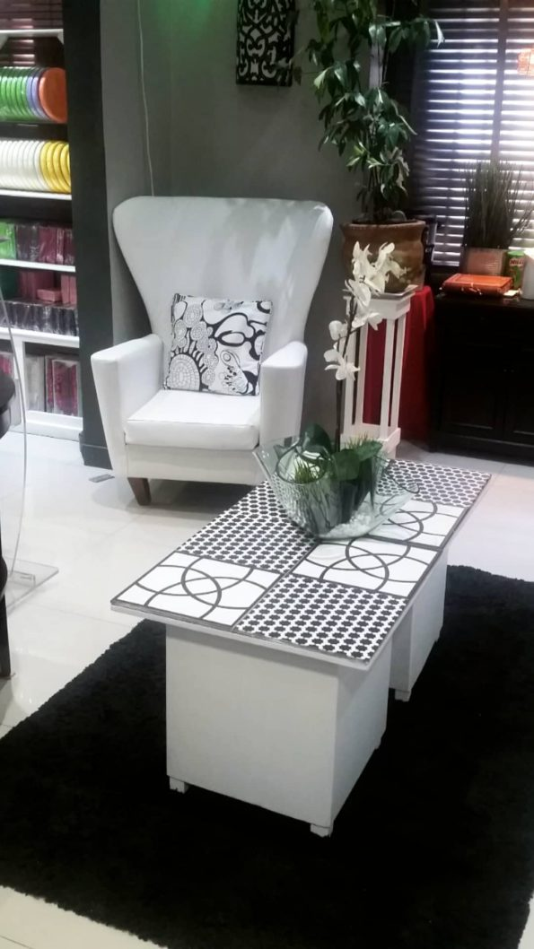 Black & White Abstract Side/Coffee Tables