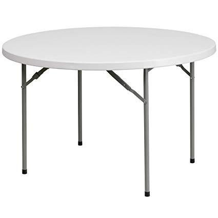 Plastic - White - Round Table