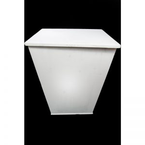 Pyramid White Side Table