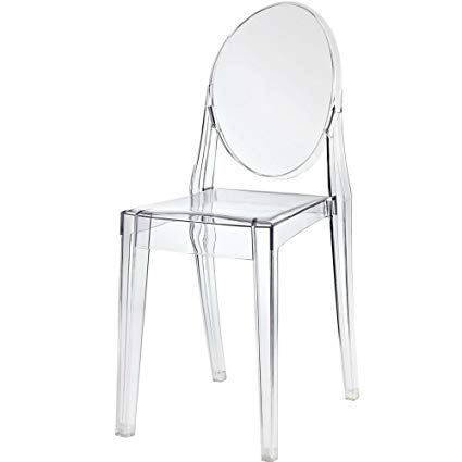 Modern Acrylic Clear Chair - Armless