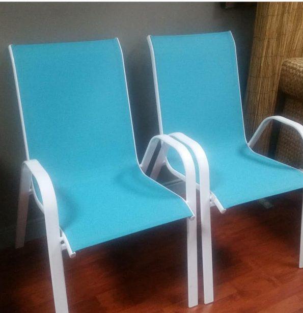 Aqua Blue Beach Chair