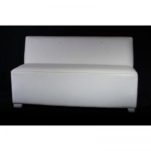 Pure 2 Seater  Armless White Leather