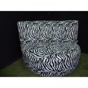 Semi Curve Black & White Stripe