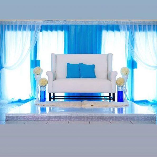 White Executive 3 Seater With Arm Sofa
