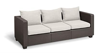 3 Seater Wicker Sofa With Arms