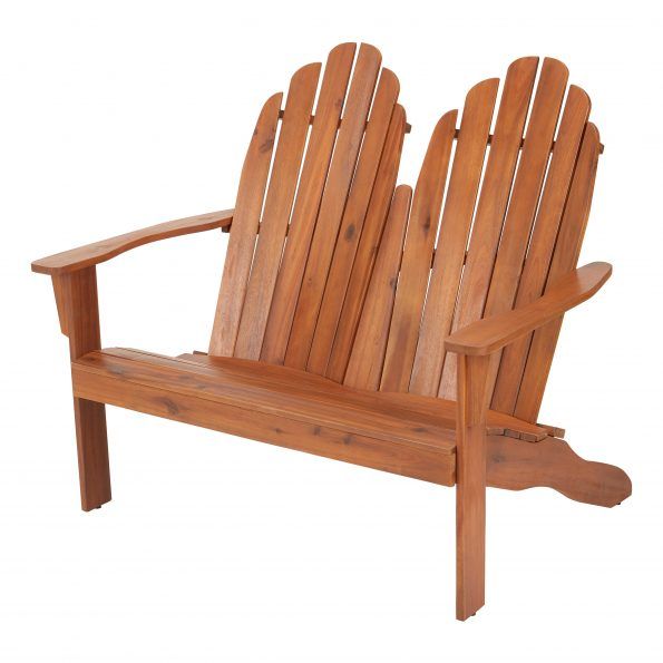 Adirondack Wooden Love Seat Bench