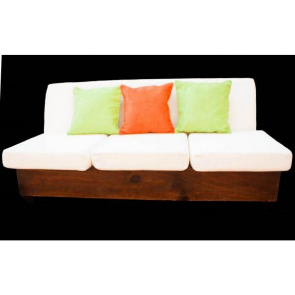 Wooden Reserved 3 Seater