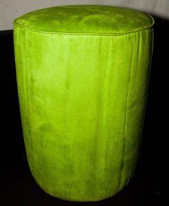 Lime Green Round Ottoman