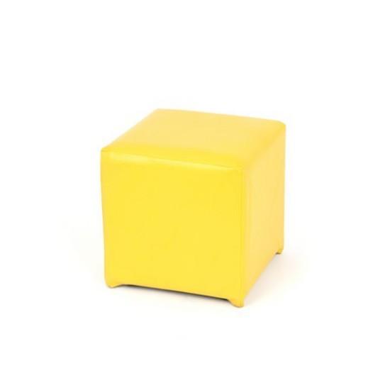 Yellow Square Ottoman [Large]
