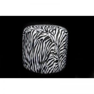 Black & White Zebra Stripe Round Single Seater