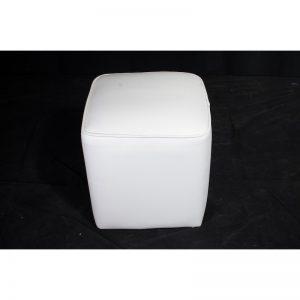 Pure Single Seater Ottoman White