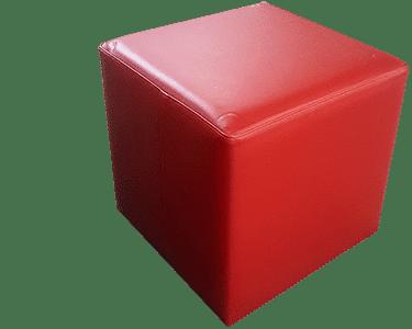 Red Leather Ottaman