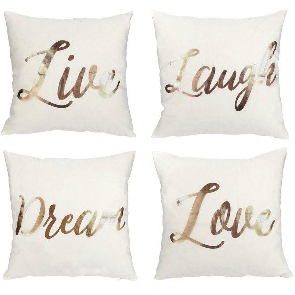 Life,Love,Laugh,Dream  Cushion