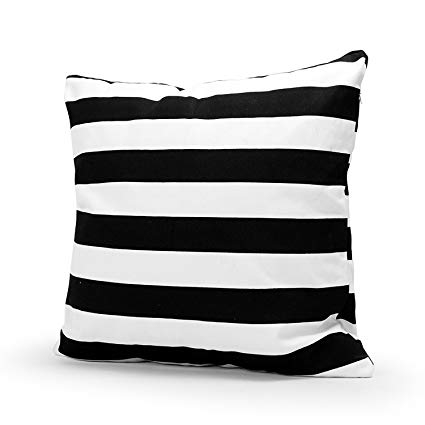 Black & White Stripe Throw Cushions