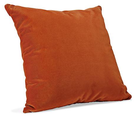 Burnt Orange Suede Throw Cushions