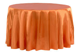 Burnt Orange - Satin Tablecloth