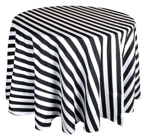 Black and White Stripe Tablecloth