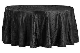 Black Pintuck Tablecloth (132'')
