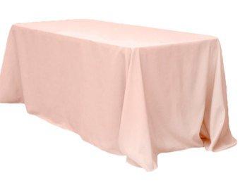 Blush Extra Long Tablecloth