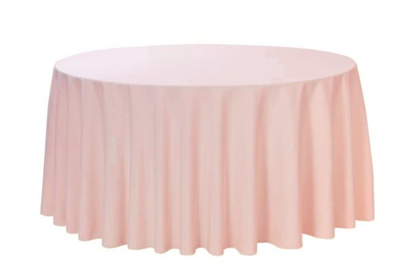 Blush Half-Moon Tablecloth