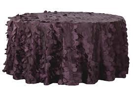 Plum/Purple Petal Circle Taffeta Tablecloth