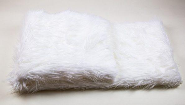 Fur White Throws